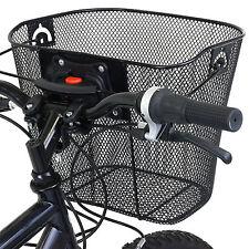 PedalPro Bike/bicycle Metal Mesh Basket & Quick Release Bracket Shopping Handle