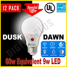12 Pack Dusk To Dawn LED 9w 60w Replacement Security Light Bulb 3000k A19 E26