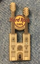 Hard Rock Cafe Double Neck Guitar Pin ~ Lisbon ~ Cathedral ~ HRC