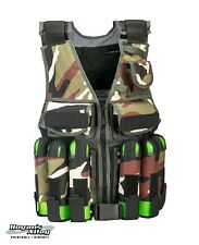 Zaf Industries Tactical Paintball Vest - Woodland Camo