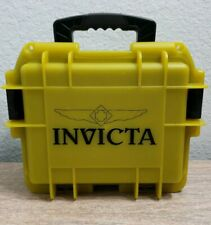 Invicta 3 Slot Lime Green Dive Storage Collector Water Resistant Case Used