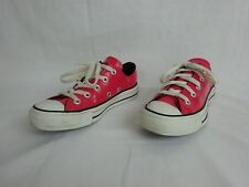 Converse Hot Pink Patent Leather Low All Stars  w/ Black Stripe ~ Women's Size 5
