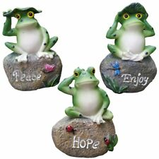 Garden Decor Statues Frogs Set of 3 Outdoor Patio Lawn Ornaments Yard Decor Art