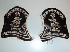 1950s Lone Ranger spats western cowboy vinyl shoe covers costume pair kids black