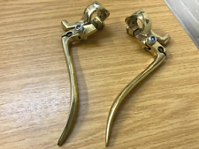 PAIR BSA M20 CLUTCH BRAKE LEVER IN BRASS