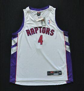 CHRIS BOSH Toronto Raptors Nike Authentic Dri Fit Jersey White Signed 48 XL NEW