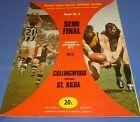 1972 Semi Final 2 AFL VFL Football Footy Record Collingwood V St Kilda Souvenir