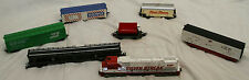 LOT OF 7 ASSORTED TYCO SILVER STREAK 4301, MARKLIN HAULER & TRAIN CARS HO SCALE