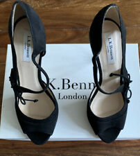 LK Bennett Black Suede Lucile UK 4 37 BNWT RRP £225