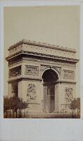 Parigi Arco Di Triomphe Da L Stella Carte de visite Teruel Foto Vintage Albumina