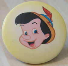 PINOCCHIO Vintage button badge 44mm Dia WALT DISNEY Interest