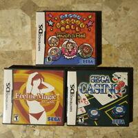 Nintendo DS SEGA LOT ✨FEEL THE MAGIC✨SUPER MONKEY BALL✨CASINO✨ USA Complete*