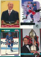 Lot of four different Mark Messier New York Rangers Hockey cards