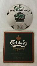 Pair Of Carlsberg Export Beer Coasters Drip Mats