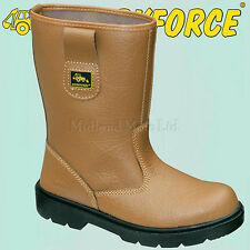 WORKFORCE Steel Toe Cap Fur Lined Leather Rigger Safety Boots. WF26-P