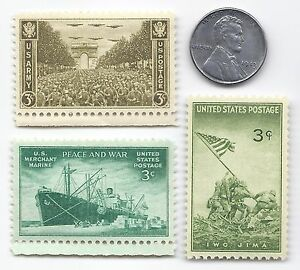 US 1943 Lincoln Steel Wheat penny Coin & Iwo Jima Marines Army Stamp Lot WW2 ERA
