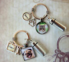 2 Pet Memorial Key Rings and Custom Photo and Cremation Urn Loss of Cat or Dog