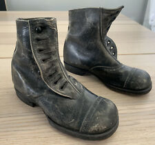 Rare Youth Victorian Black Leather Lace High Boots Dress Shoes