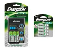 Energizer 1 Hour Charger AA/AAA includes 4 AA Rechargeable batteries+8 AA Pack