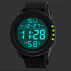 LED Digital Screen Wrist Sport Watch Waterproof Date Watch Men Women Unisex Boys