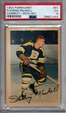 Fleming Mackell 1953 Parkhurst #91 ***CORRECT - WITH BIO*** PSA 5  BRUINS Hockey
