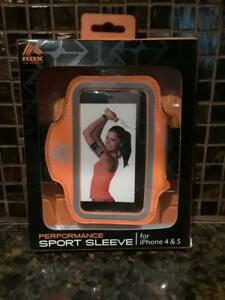 RBX Sports Sleeve IPhone 4/5/6 High Performance Adjustable Armband Orange--v7