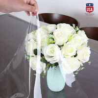 5.56 Waterproof PVC Clear Tablecloth Transparent Protector Dining Table Cover