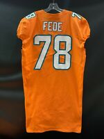 #78 TERRENCE FEDE MIAMI DOLPHINS GAME USED TEAM ISSUED ORANGE COLOR RUSH JERSEY
