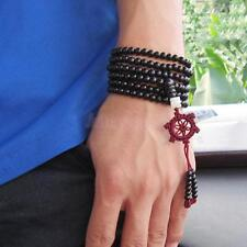 Black Tibetan Sandalwood Buddhist Buddha 216 Prayer Beads Mala Bracelet/Necklace