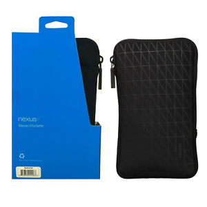 Google - Neoprene and Microfiber Cushion Tablet Sleeve W/Outer Pocket - Nexus 7