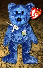 Ty Beanie Babies Collection 2003 DECADE 10 YEAR ANNIVERSARY Bear ROYAL BLUE MINT
