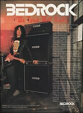Aerosmith Joe Perry Bedrock 1200 series guitar amps 1990 ad 8 x 11 advertisement