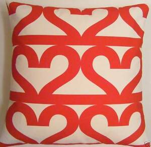 VALENTINES CUSHION COVERS MADE FROM IKEA RED HEARTS FABRIC