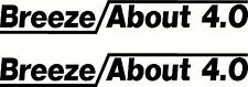 Quintrex Breezeabout Breeze About Fishing Boat Sticker Decal Marine Set of 2