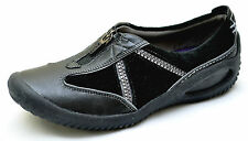 Clarks Privo NORTHDOWN Black Leather Slip Ons Shoes Women's 6 - NEW - 34503
