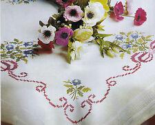 Stickdecke Stickpackung 80x80 cm Floral 58 Sticken KREUZSTICH
