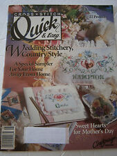 May 1991 Quick & Easy Cross Stitch Back Issue Pattern Magazine Wedding Sampler