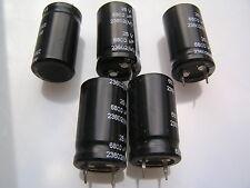 Matsushita Electrolytic Capacitor 25V 6800uf 85'C 5 pieces OL0620