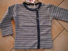 (X110) Imps & Elfs Baby Langarm Jacke Shirt zum Knöpfen mit Logo Aufnäher gr.62