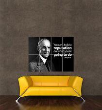 Cartel impresión citar American Car magnate Henry Ford no puede construir reputación seb490