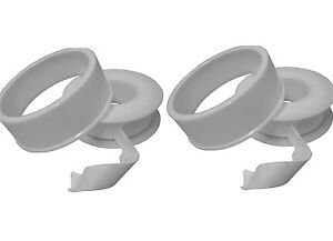 PTFE Tape (2 Pack) Plumbing White Thread Sealing Tape For Water WRAS Approved