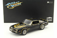 Pontiac Trans AM Smokey and the Bandit I 1977 noir/or 1:18 Greenlight