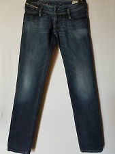 "WOMEN'S JEANS DIESEL STRAIGHT STRETCH SIZE 9 LEG 31"" FREE POSTAGE"