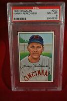 1952 Bowman - #202 - Harry Perkowski - PSA 8 - NM-MT