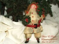 Arturo E.Reyna SANTA FIGURE COLLECTIBLES FOLK ART PRIMITIVE 10'' VICTORIAN STYLE