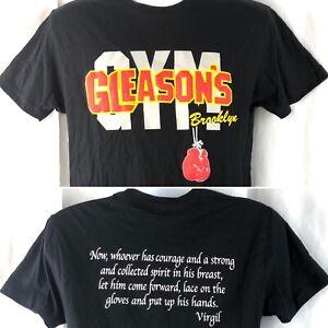 Gleasons Boxing Gym Brooklyn NY Puffy Logo S T-Shirt Small Mens Virgil Quote