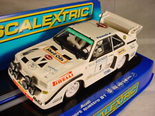 Scalextric Audi Sport Quattro S1 #1 Ulster Rally 1985 Michele Mouton C3487 MB