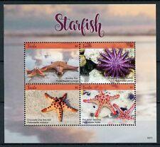 Tuvalu 2018 MNH Starfish Sea Star Knobby Star 4v M/S Marine Stamps