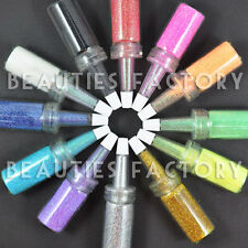 BF New 12 x Bottle Glitter Dust Powder 4 Nail Art Decoration UV Gel Builder #170