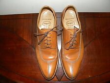 Vtg Georges Hand Made in Spain Leather Mens Sz 8.5 Dress Shoes Light Brown Tan